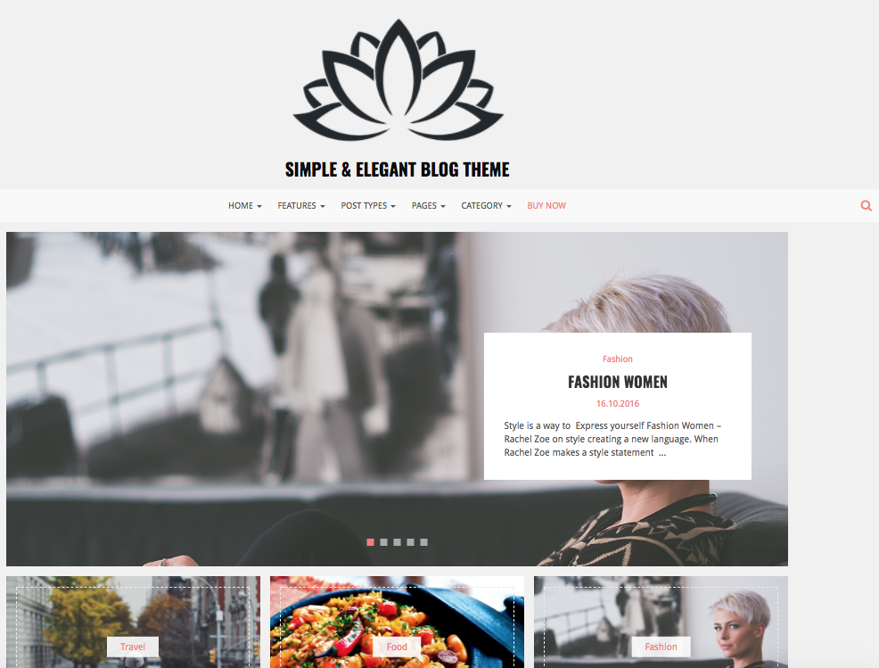 Lotos- Custom WordPress Theme