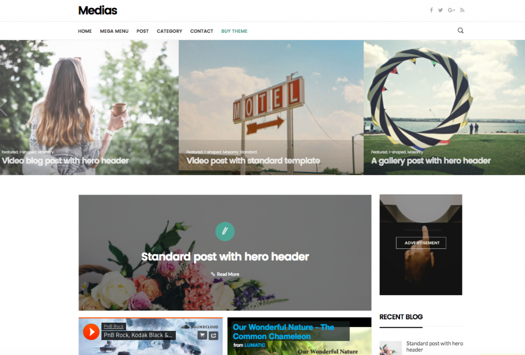 Medias WordPress Theme