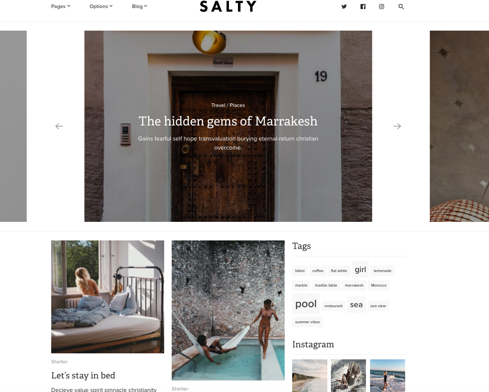Salty Custom WordPress-Theme