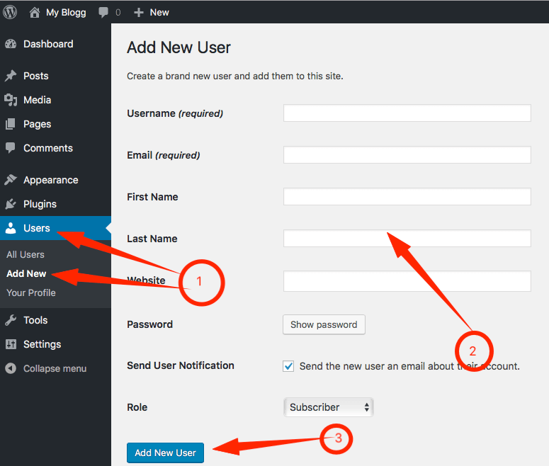 Add User Profile in WordPress