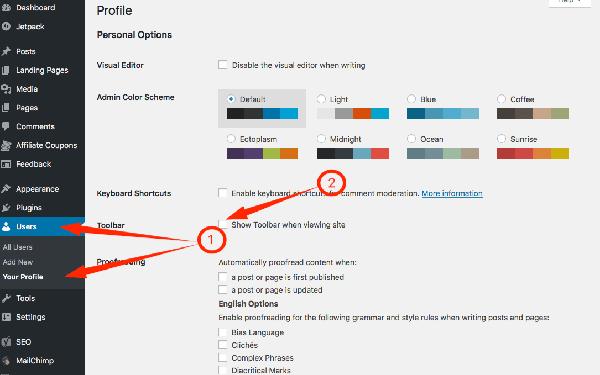 Remove Admin Menu on WordPress