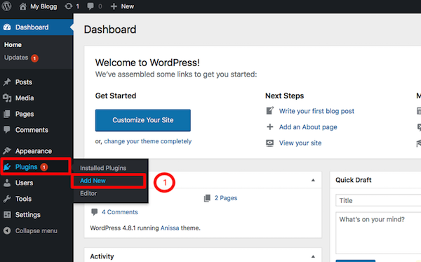 Add Plugin Page in WordPress