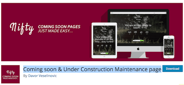 Coming Soon & Under Construction Maintenance Page Logo