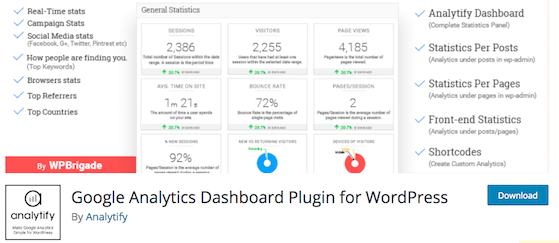 Analytify Best Google Analytics Plugins